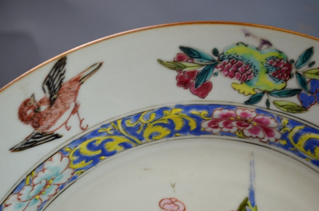 Chinese18th C. Export Famille Rose Porcelain Plate - 3