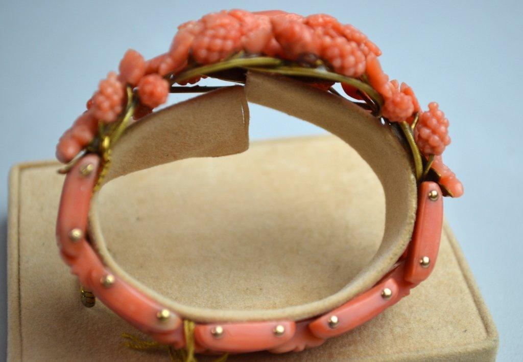 Victoria Coral Carved Bracelet - 3