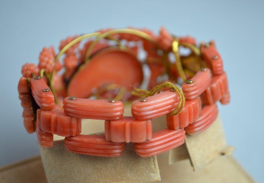 Victoria Coral Carved Bracelet - 5
