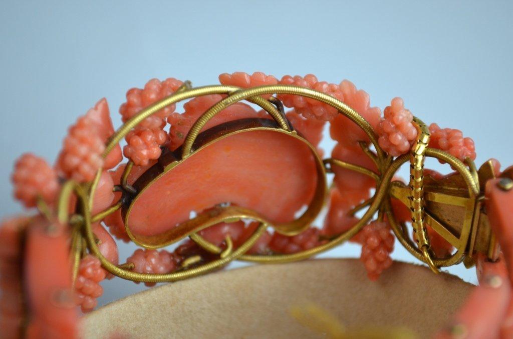 Victoria Coral Carved Bracelet - 6