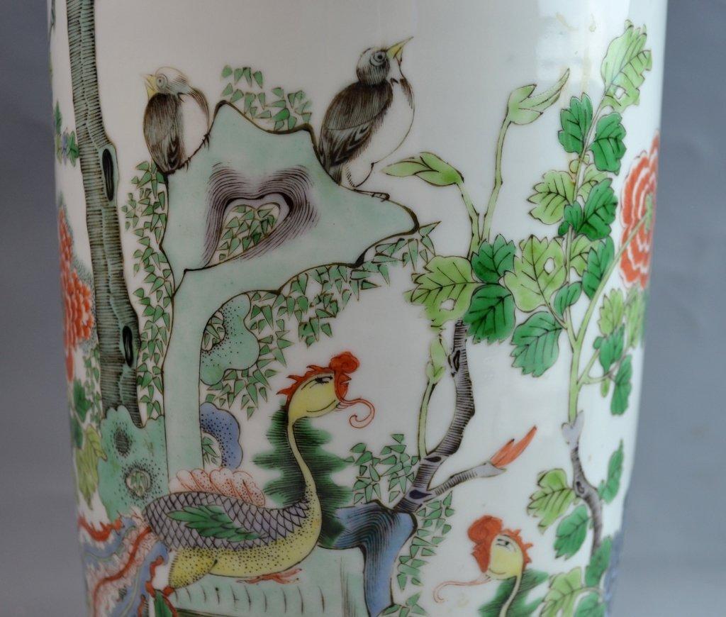 Chinese Famile Rose Porcelain Vase - 2