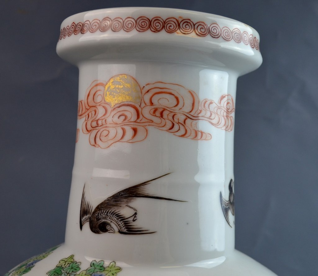 Chinese Famile Rose Porcelain Vase - 4