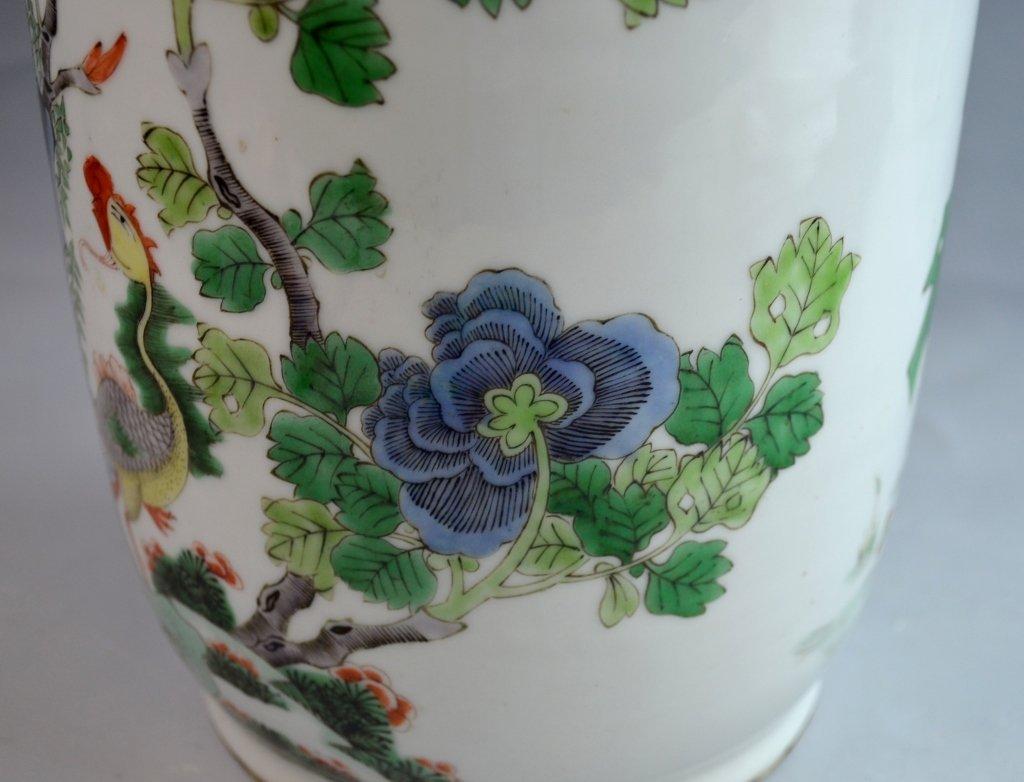 Chinese Famile Rose Porcelain Vase - 5