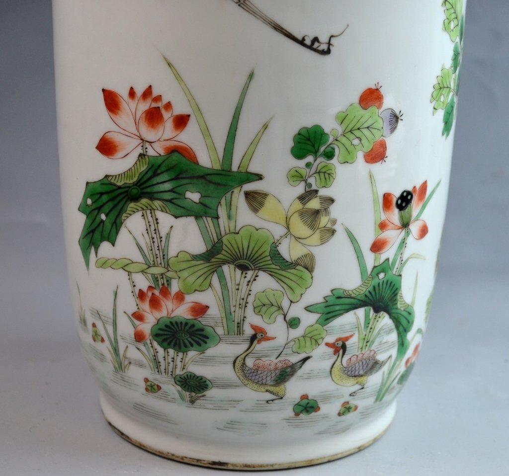 Chinese Famile Rose Porcelain Vase - 7