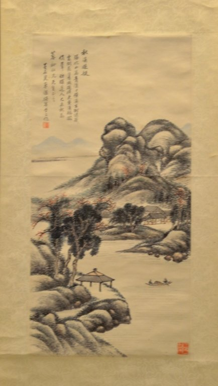 Chinese Water Color Painting On Paper - 2