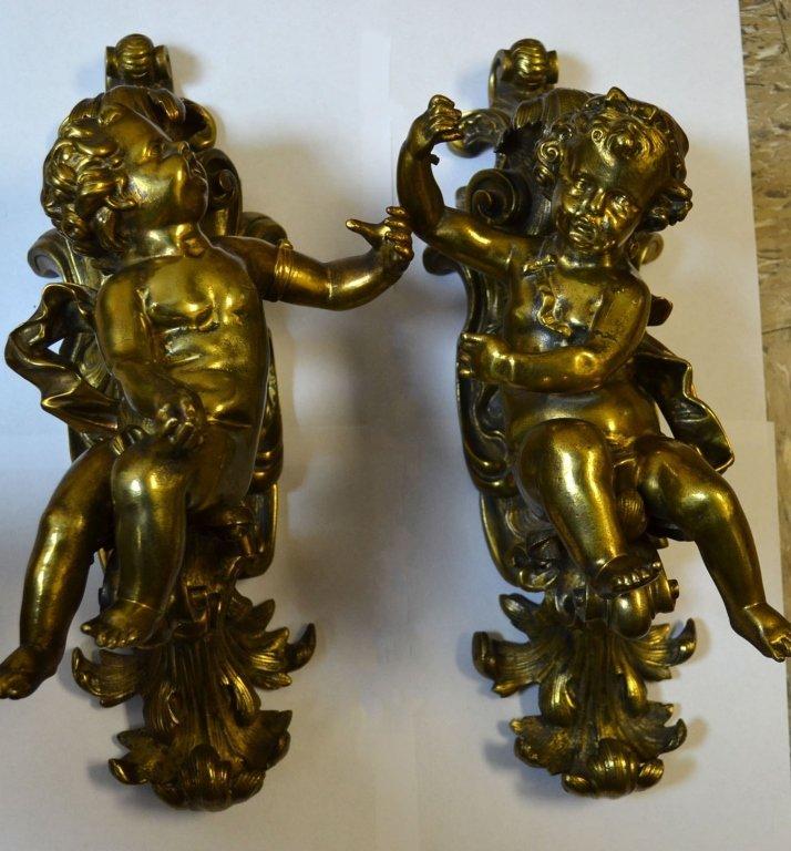 Pair of Gilt Bronze Wall Decoration