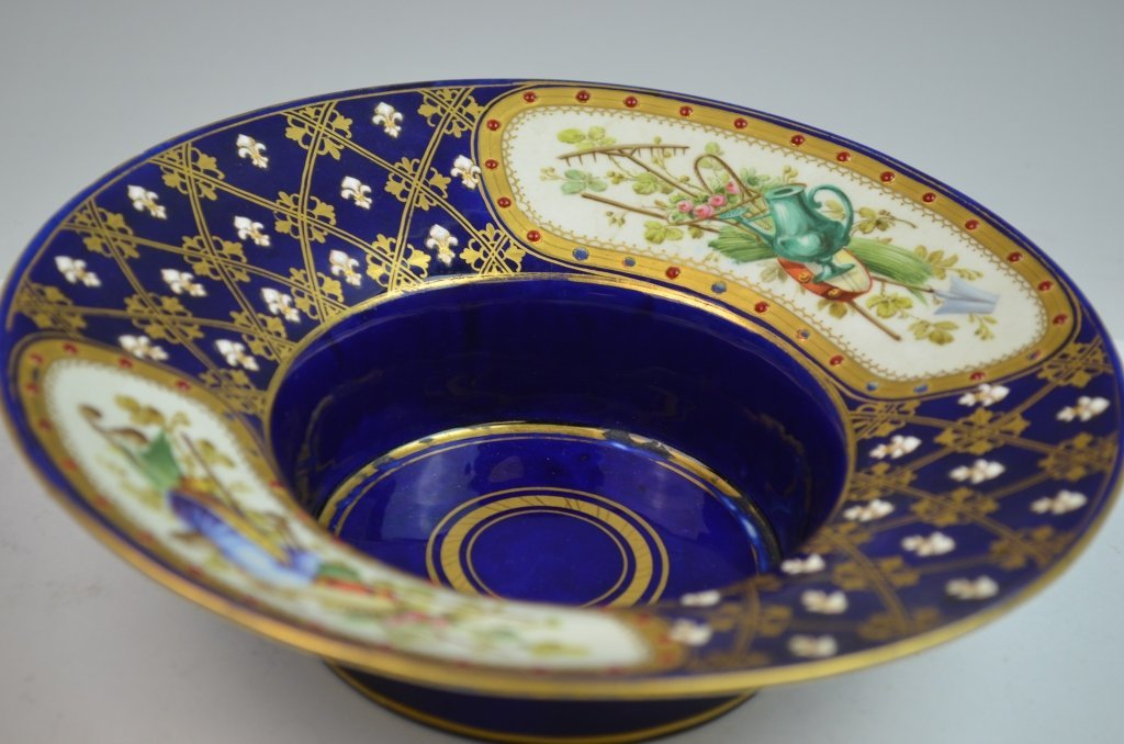Sevres Double Portrait Jeweled Cup and Saucer - 3