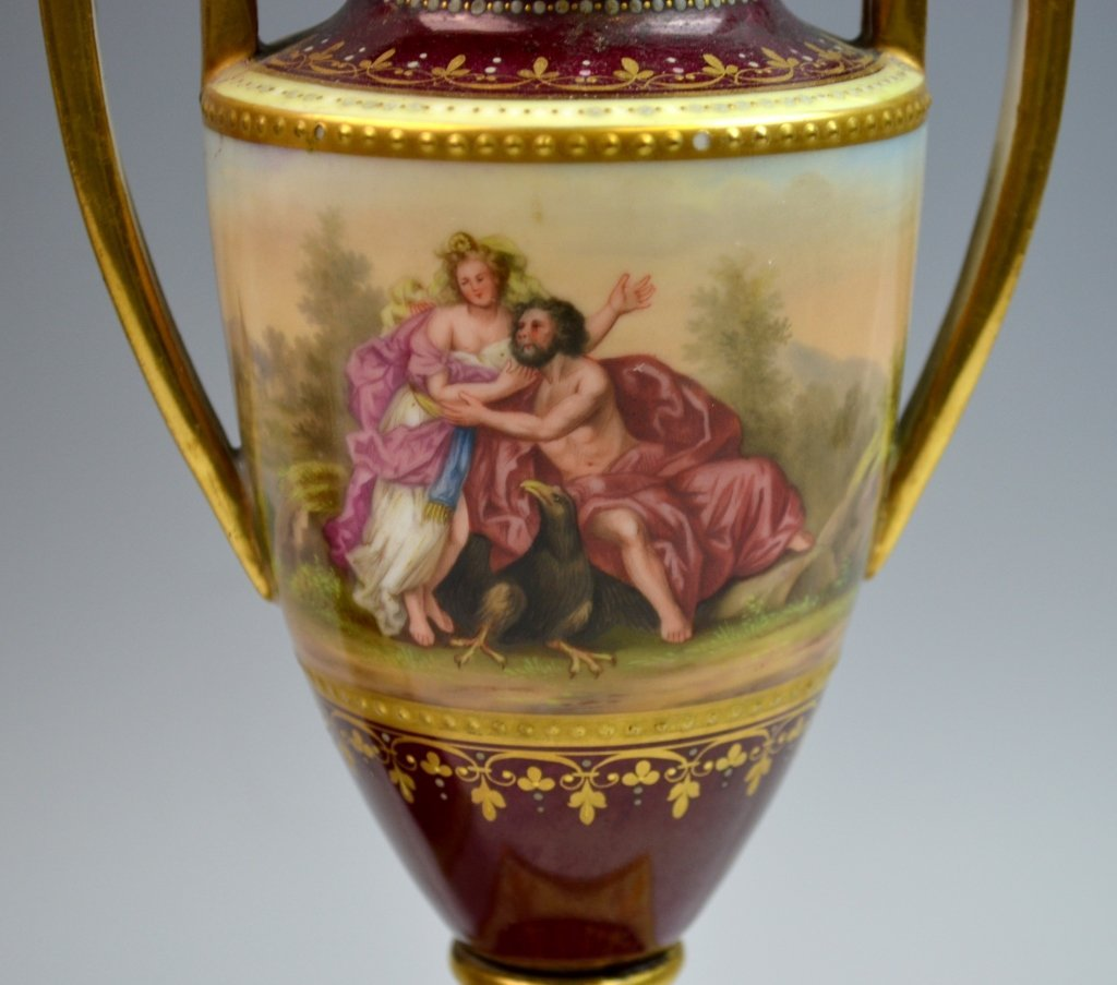 Pair of Royal Vienna Porcelain Vases - 2