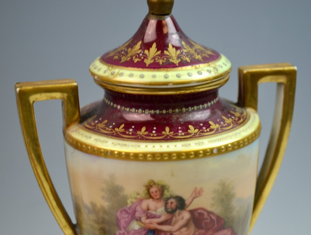 Pair of Royal Vienna Porcelain Vases - 6