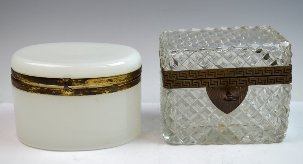 Two Crystal and Opaline Boxes