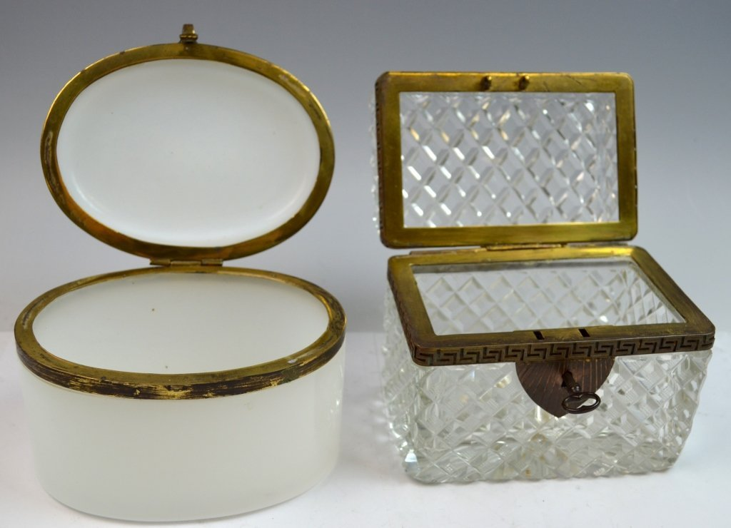 Two Crystal and Opaline Boxes - 5