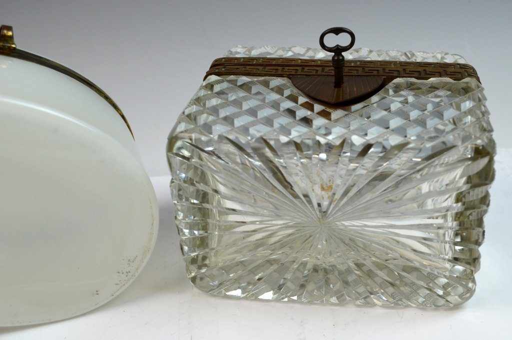 Two Crystal and Opaline Boxes - 7