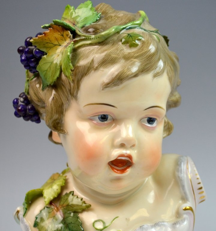 Pair of Meissen Style Bust of Boy and Girl - 4