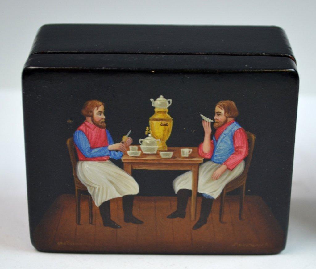 2 Russian Paper Mache Boxes - 4