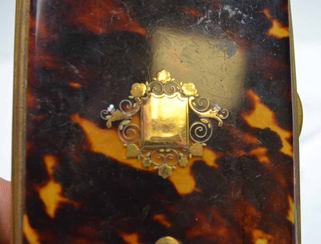 Gold Box with Stone Inlaid - 6