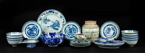 Miscellaneous Chinese Blue and White Tableware Pieces