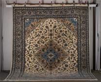 20thC Pakistan Tabriz Room Size Oriental Rug