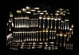 Large Lot of Miscellaneous Sterling Silver Flatware