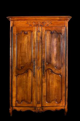 18th/19thC French Fruitwood Armoire
