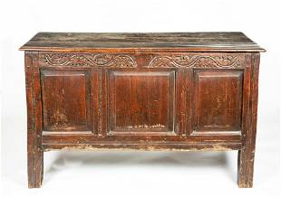 English Lift Top Blanket Chest