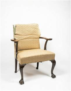 18thC American Chippendale Lolling Chair