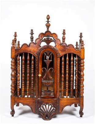 French 19thC Bread Cabinet - Wall Hung