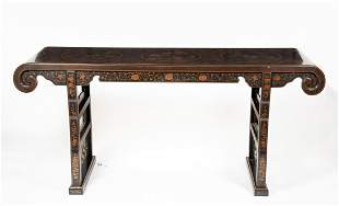 20thC Chinese Lacquer Altar Table