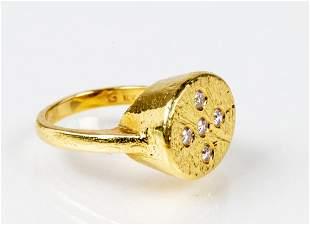 18K Diamond Statement Ring