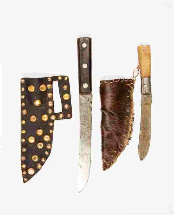 Two Native American Knives with Sheaths