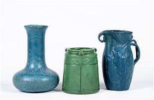 Three Pieces Hampshire Pottery
