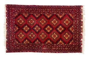Modern Afghan Scatter Size Oriental Rug