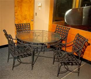 """Brown Jordan"" Florentine Five Piece Dining Set"