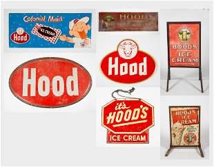 "Seven ""H.P. Hood"" Metal Advertising Signs"