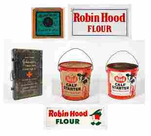 Six Piece Robin Hood Flour, Johnson's First Aid and