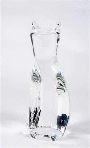 "8 1/2"" tall Steuben Crystal Cat"
