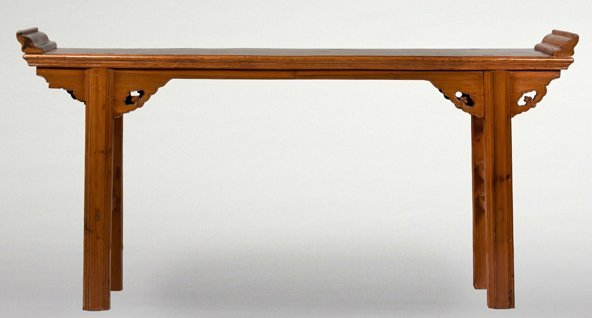 Chinese Altar Table with carved Spandrels.
