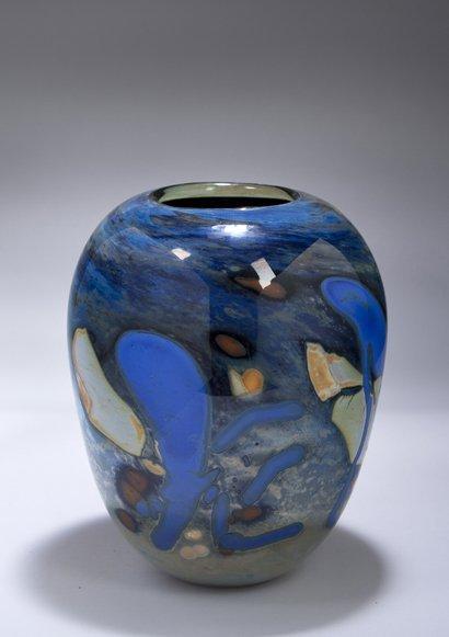 Modern Art Glass Vase by M. Mohr.