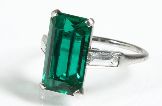 Cartier Emerald and Diamond Ring.