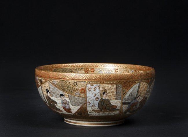 Antique Japanese Satsuma Rice Bowl