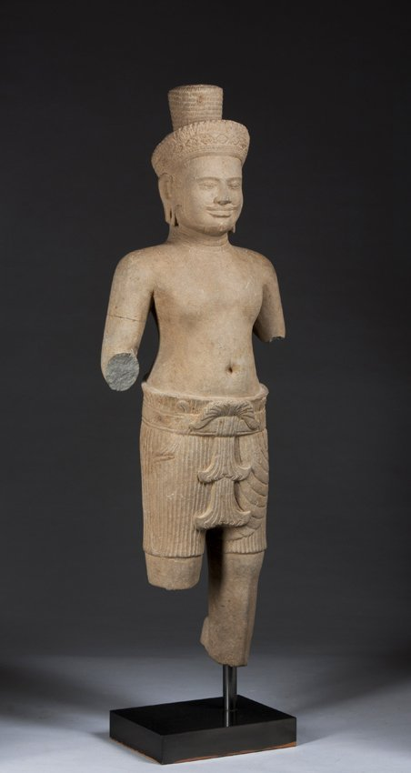 Khmer Statue of a Deity, 10th-12th Century, Cambodia