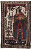 Early 20th Century Persian Pictorial Scatter Rug