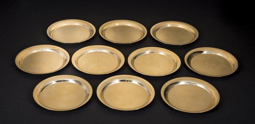 Ten 14k Solid Gold plates, 44 Troy ounces