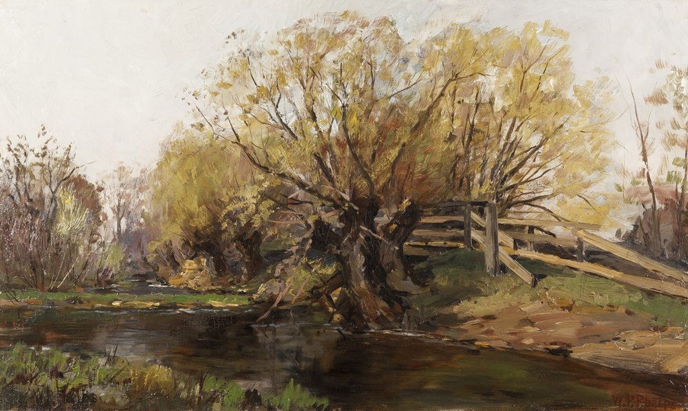 William Preston Phelps, oil on canvas of a woodland