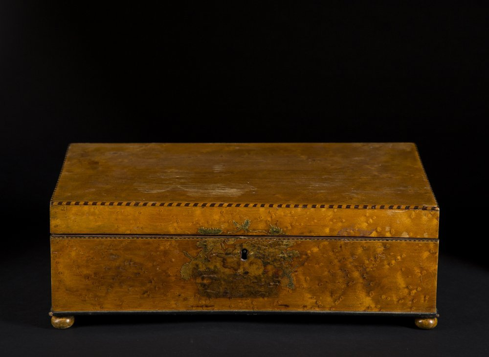 School Girl Decorated Valuables Box, 1817