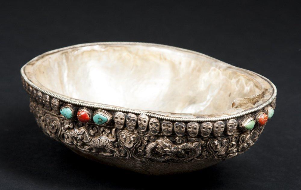 A Fine Tibetan Kapala Bowl
