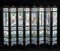 Eight Panel Chinese Table Screen