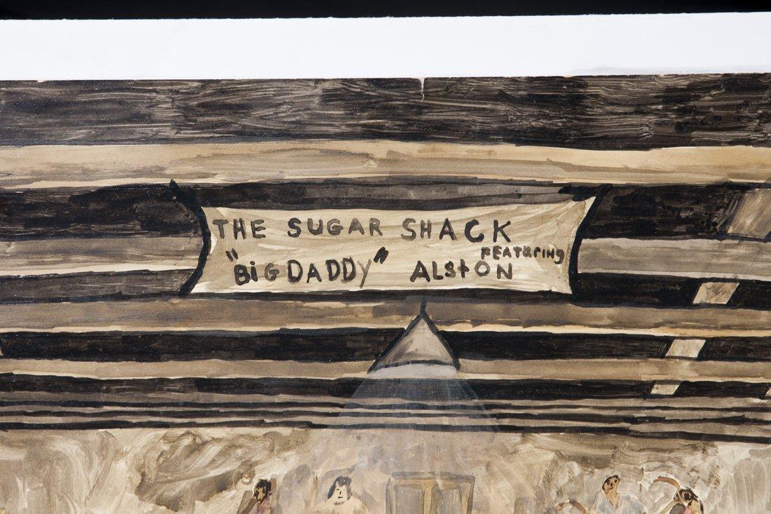 Attributed Ernie Barnes, watercolor of The Sugar Shack - 4