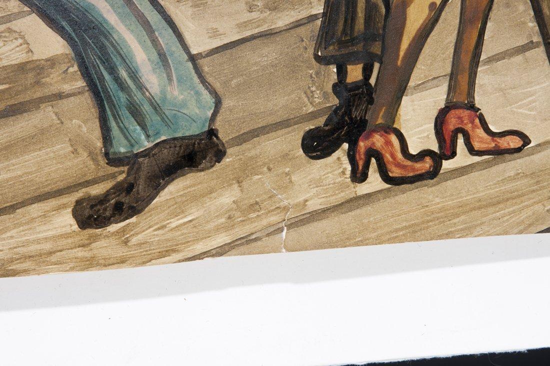 Attributed Ernie Barnes, watercolor of The Sugar Shack - 7