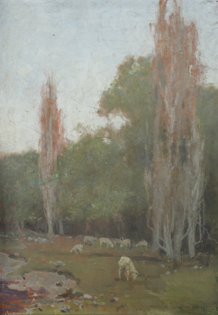 Stephen Parrish landscape with sheep grazing