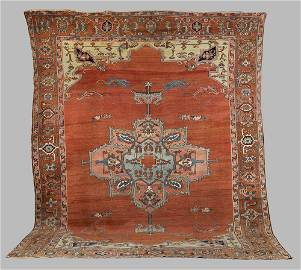 Antique Serapi Room Size Oriental Rug